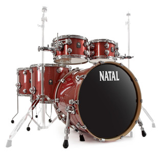 Natal Ash US Fusion X Plus 6 Piece Shell Pack, Scarlet Sparkle