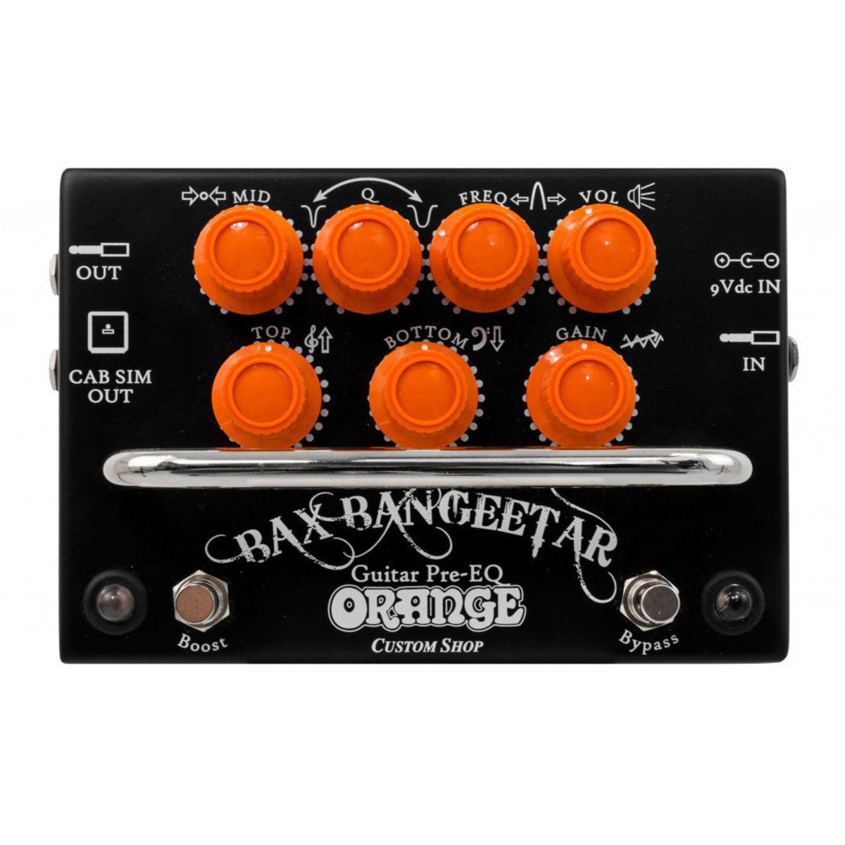 Orange BAX Bangeetar Guitar Pre EQ Pedal, Black