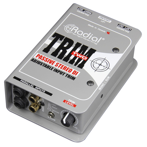Radial Trim-Two Passive Stereo DI Box