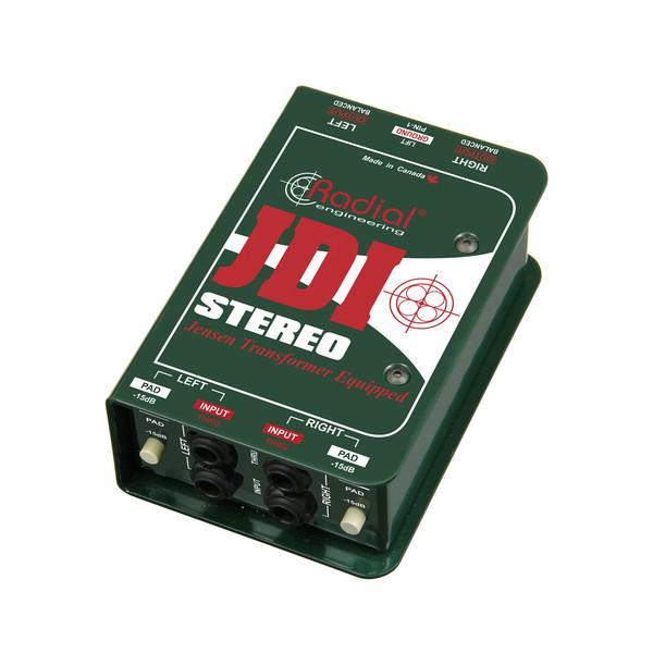 RadialJDI Stereo Passive Direct Box - Front Angled Right