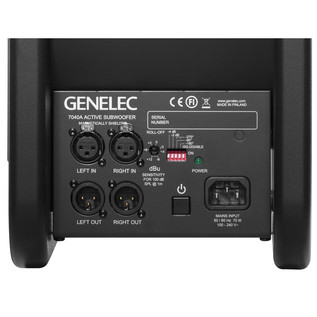 Genelec 7040A Ultra Compact Subwoofer, Rear Panel