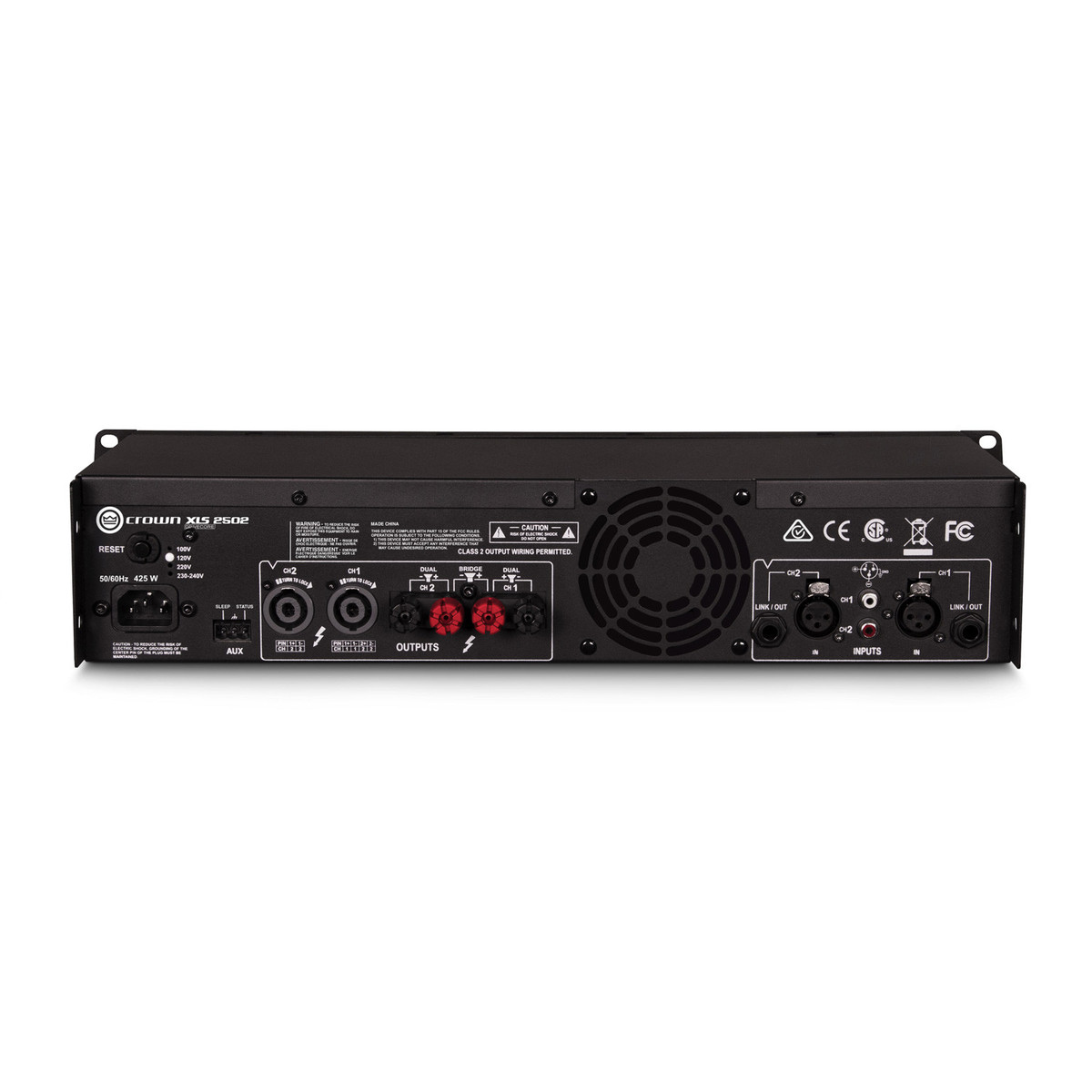crown xls 2502 drivecore 2 775w stereo power amplifier at gear4music. Black Bedroom Furniture Sets. Home Design Ideas