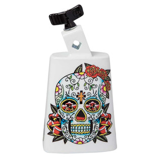 Latin Percussion Cow Bell Collect-A-Bells Black Beauty Sugar Skull