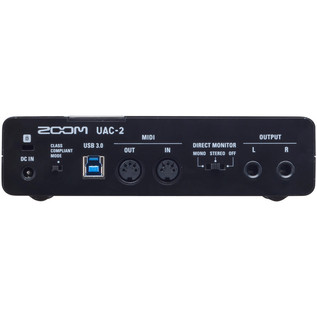 Zoom UAC-2 2-In/2-Out USB 3.0 Audio Interface Rear