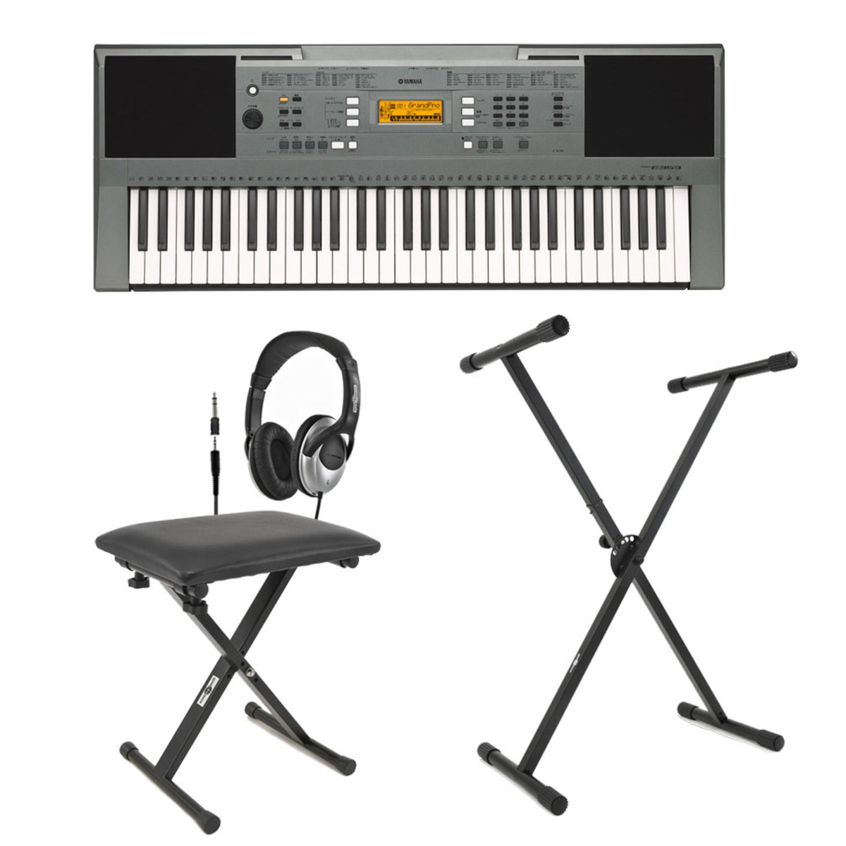 Yamaha Psre353 Portable Keyboard With Stand Bench And