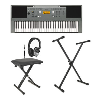 Yamaha PSRE353 Portable Keyboard with Stand, Bench and Headphones