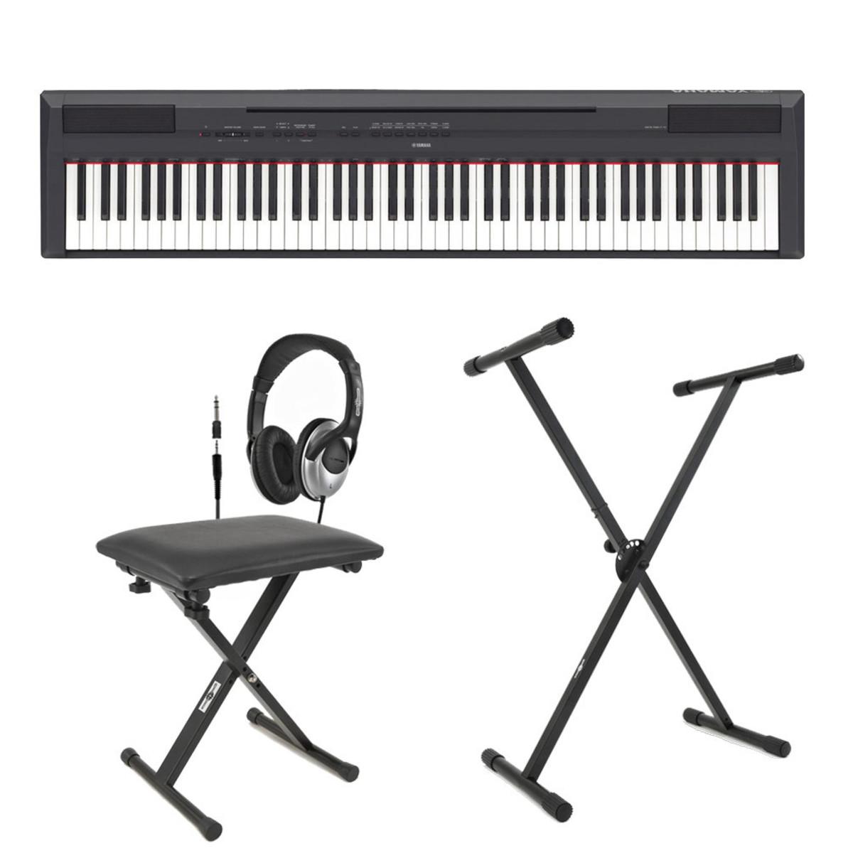Yamaha p115 digital piano black inc stand bench and for Yamaha p115 piano