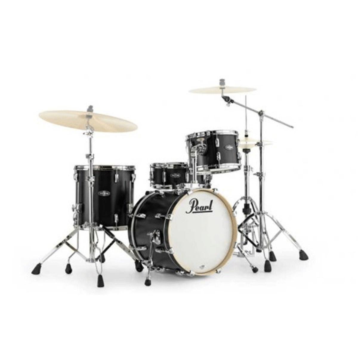 pearl vision vbl bop kit drum kit matte satin black at gear4music. Black Bedroom Furniture Sets. Home Design Ideas