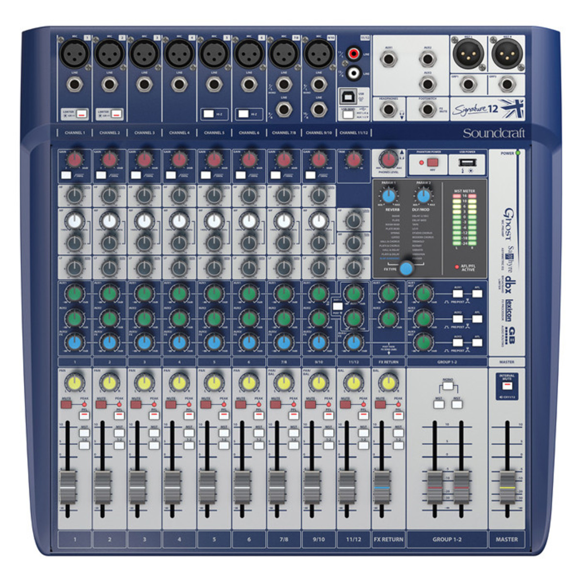 Soundcraft Signature 12 Analog Mixer with USB and FX