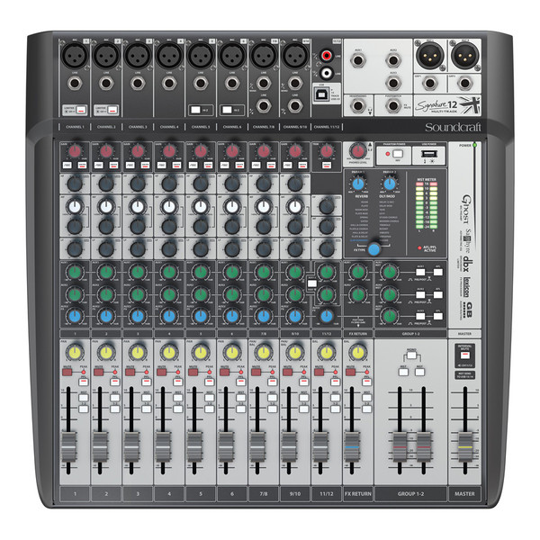 Soundcraft Signature 12 MTK Analog Mixer with USB