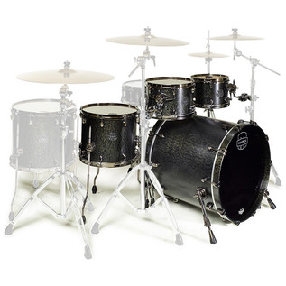 Mapex Saturn V MH Exotic Series Sound Wave, Flat Black Maple Burl