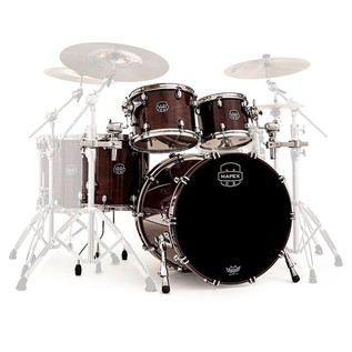 Mapex Saturn V 22'' Sound Wave Shell Pack, Espresso Walnut