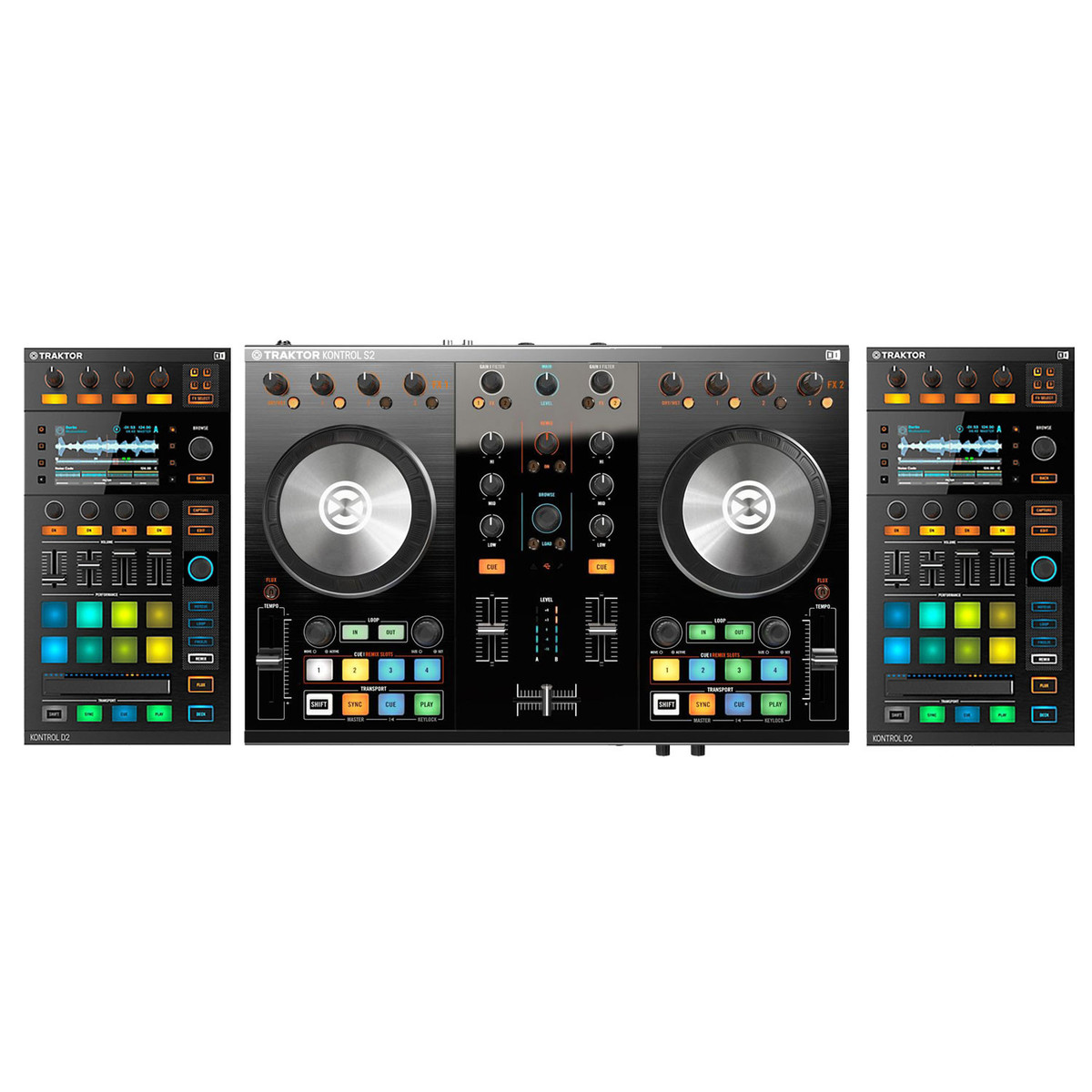 native instruments traktor kontrol s2 mk2 and d2 visual modules at gear4music. Black Bedroom Furniture Sets. Home Design Ideas