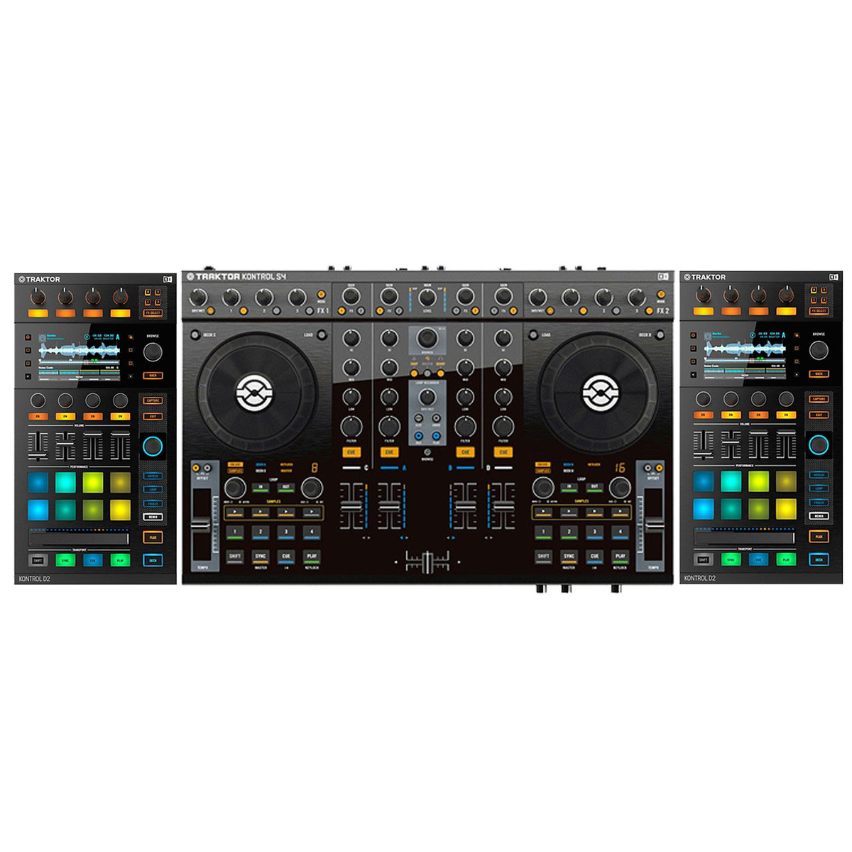 native instruments traktor kontrol s4 mk2 with d2 visual modules at gear4music. Black Bedroom Furniture Sets. Home Design Ideas