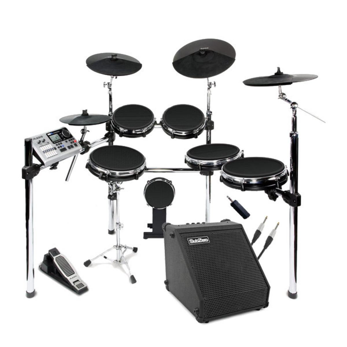 disc alesis dm10 studio kit mesh digital drum kit bundle at