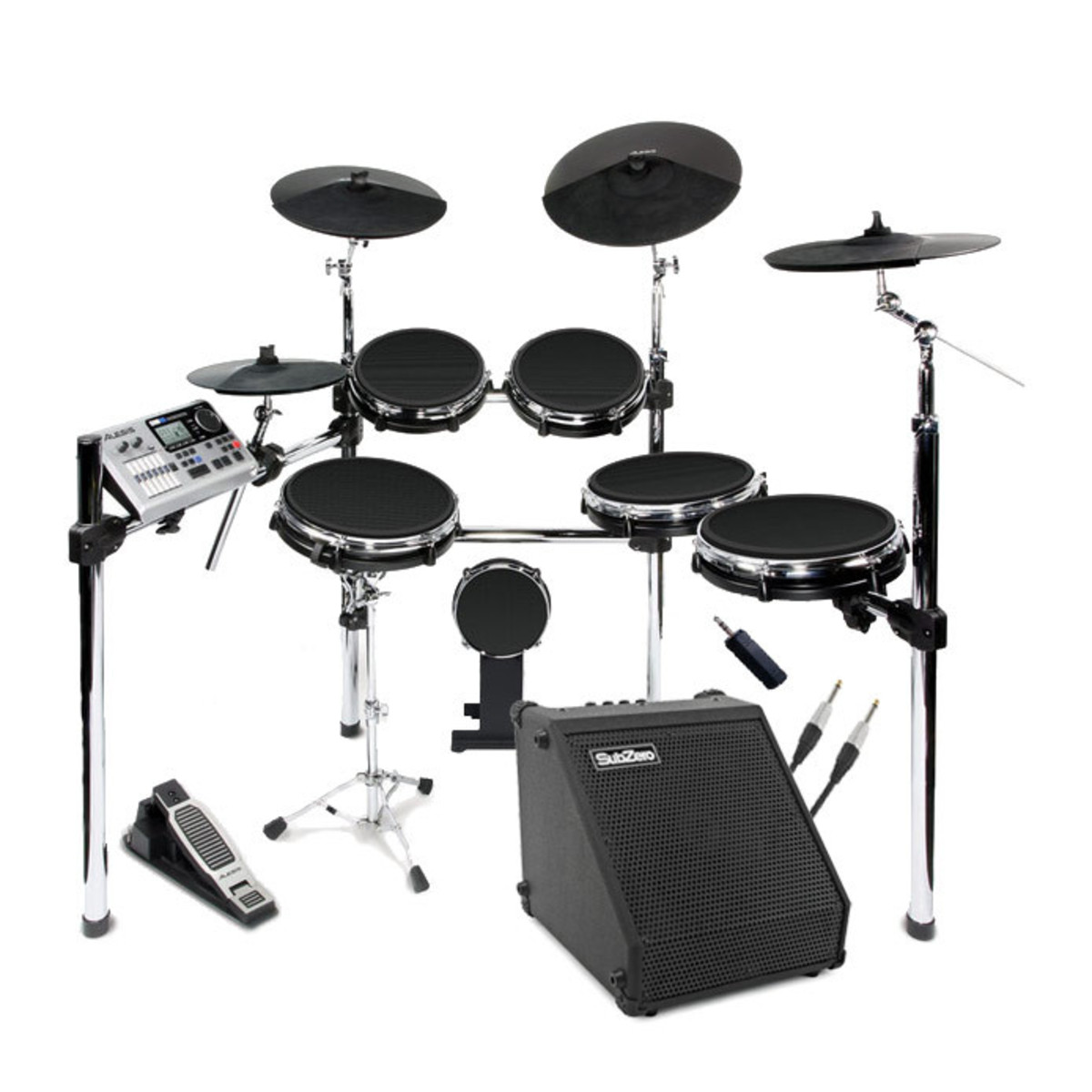 disc alesis dm10 studio kit mesh digital drum kit bundle at gear4music