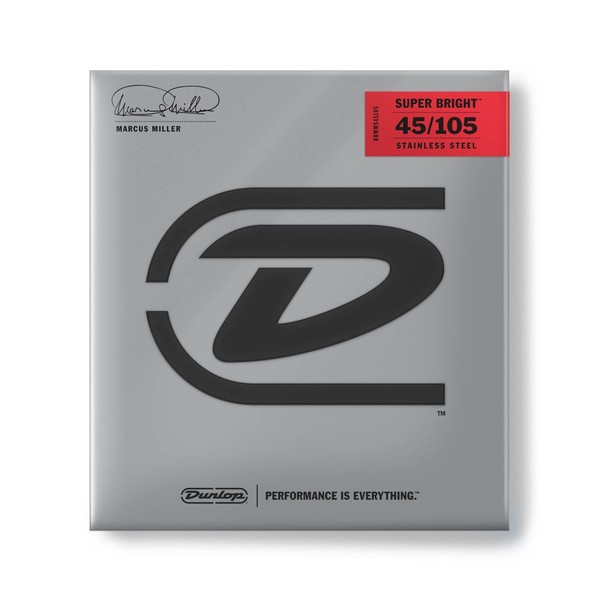 Dunlop Marcus Miller Super Bright Bass Guitar Strings, 45-105