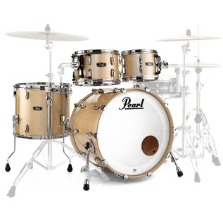 Pearl FW924XSP Wood Fiberglass Ltd Ed. Shell Pack, Platinum Mist