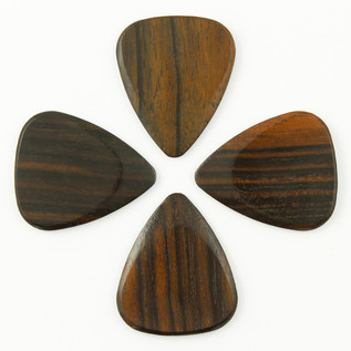 Timber Tones Macassar Ebony Guitar Pick, Players Pack of 4