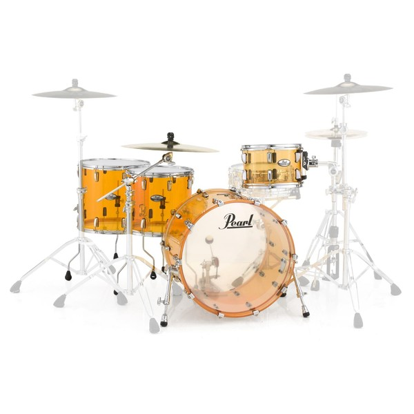 Pearl Crystal Beat 22'' Crossover 4 Pc Shell Pack, Tangerine Glass
