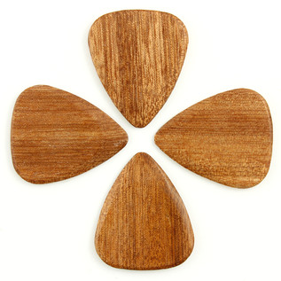 Timber Tones Almond Wood Guitar Pick, Players Pack of 4