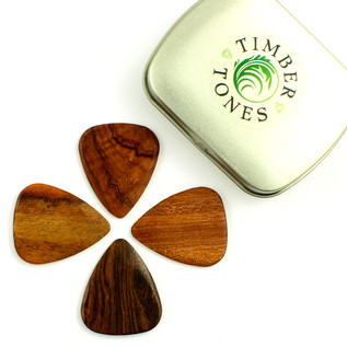 Timber Tones Mixed Acoustic Guitar Picks, Tin of Four