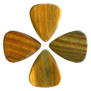 Timber Tones Lignum Vitae Guitar Pick, Players Pack of 4