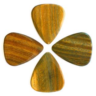 Timber Tones Lignum Vitae Guitar Pick, Players Pack of 4