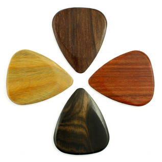Timber Tones Mixed Electric Guitar Picks, Players Pack of 4