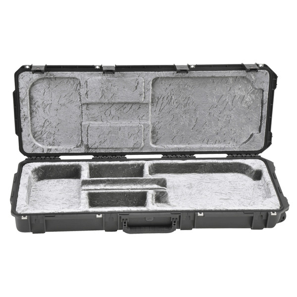 SKB Waterproof Open Cavity Electric Guitar Flight Case, with Wheels