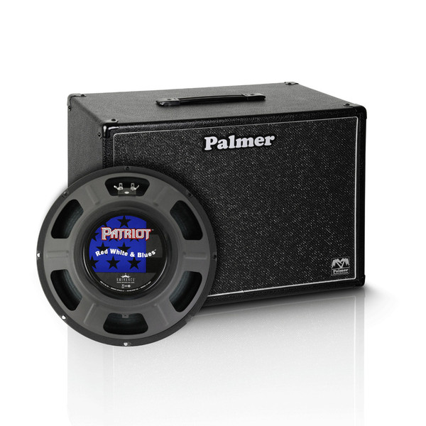 "Palmer 1 x 12"" Eminence Red, White and Blues Speaker Cabinet, 8 Ohms"