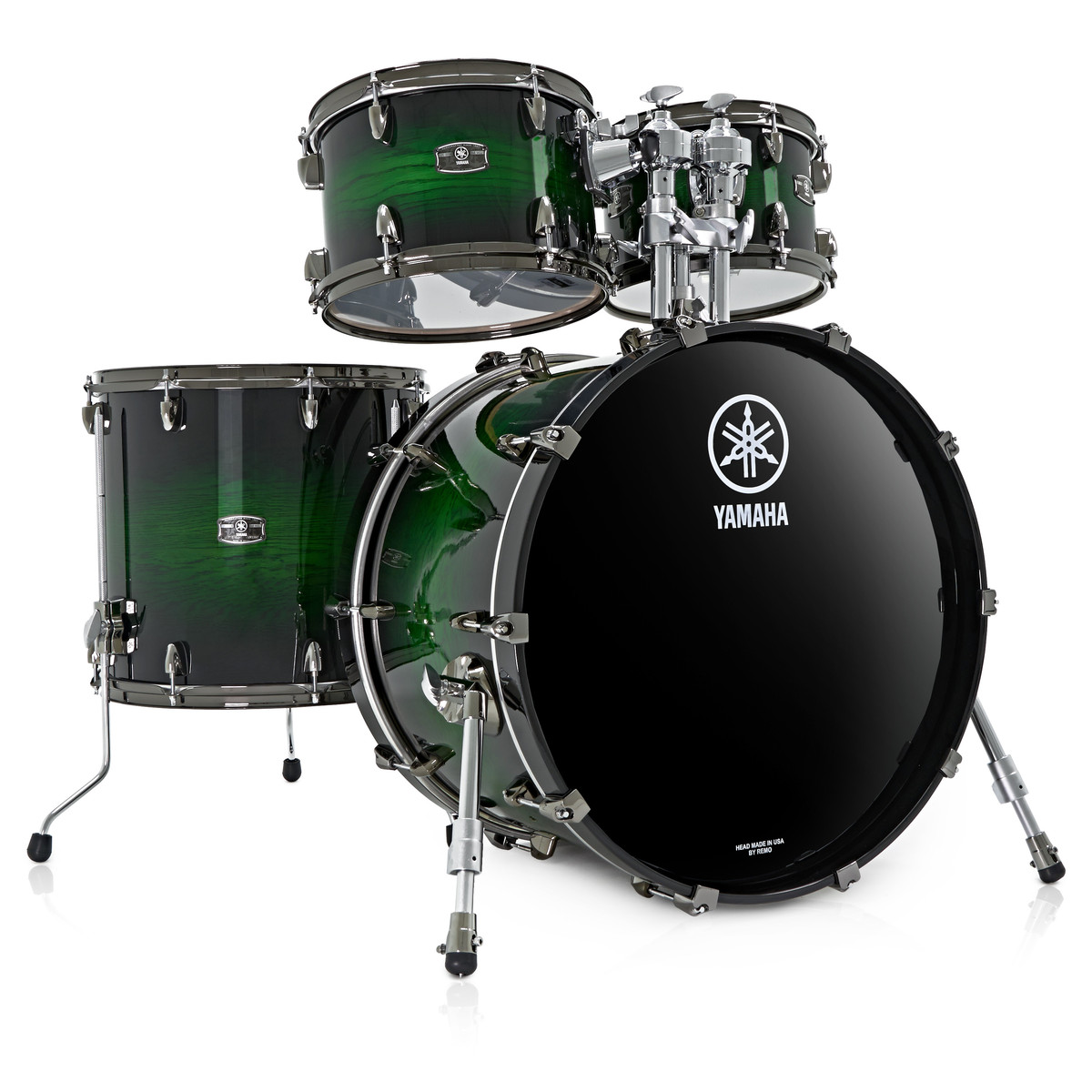 Shani Emerald: Yamaha Live Custom 22'' 4 Piece Shell Pack, Emerald Shadow