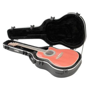 SKB Acoustic Roundback Hardshell Guitar Case (Guitar Not Included)