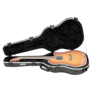 SKB Shallow Acoustic Roundback Hardshell Guitar Case (Guitar Not Included)