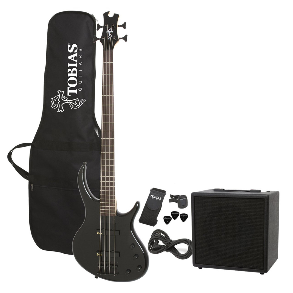 Click to view product details and reviews for Epiphone Tobias Toby Bass Guitar Starter Pack Ebony.