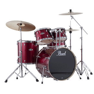 Pearl Export EXX 22'' Rock Drum Kit, Red Wine