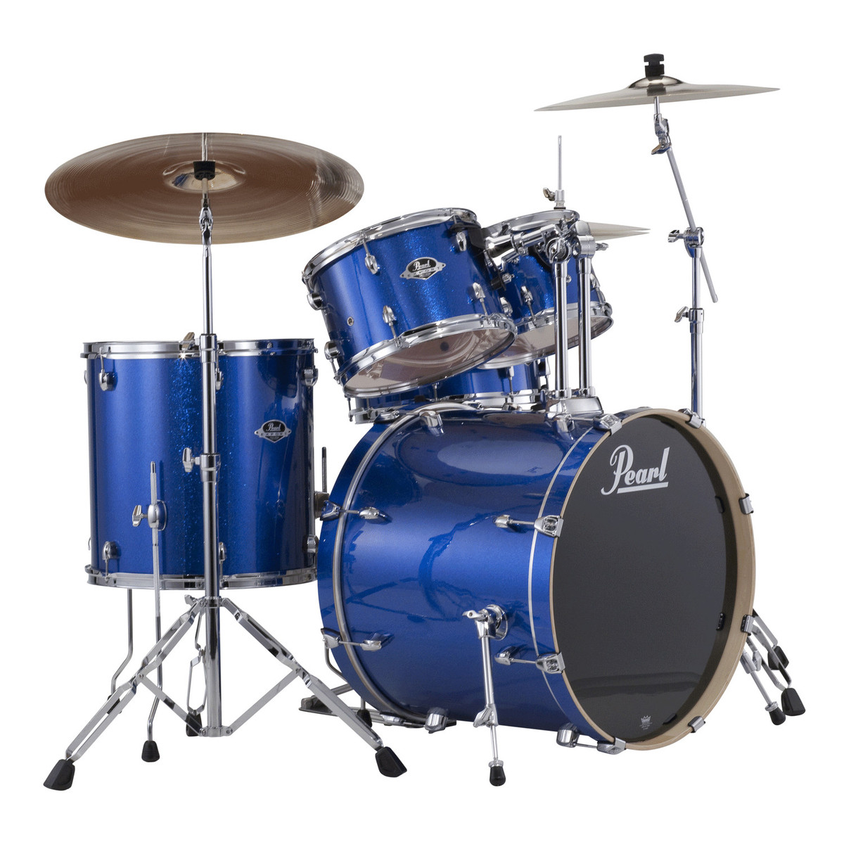 Pearl Export Exx 22 Rock Drum Kit Blue Sparkle At