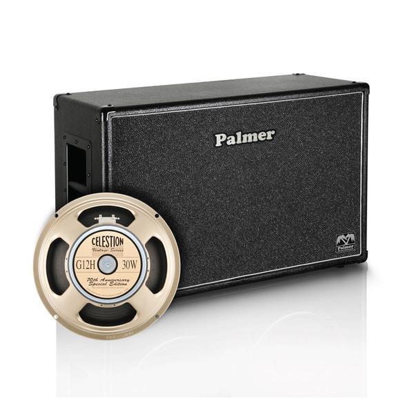 """Palmer 2 x 12"""" Celestion G12H Anniversary Speaker Cabinet, Open Back"""