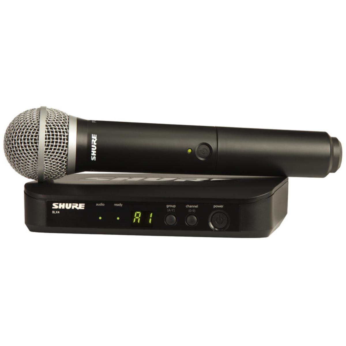 shure blx24uk pg58 handheld wireless microphone system ex demo at gear4music. Black Bedroom Furniture Sets. Home Design Ideas
