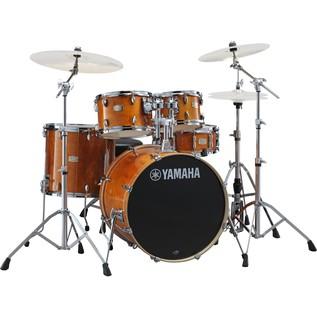 Yamaha Stage Custom Birch 22'' 5 Piece Drum Kit, Honey Amber