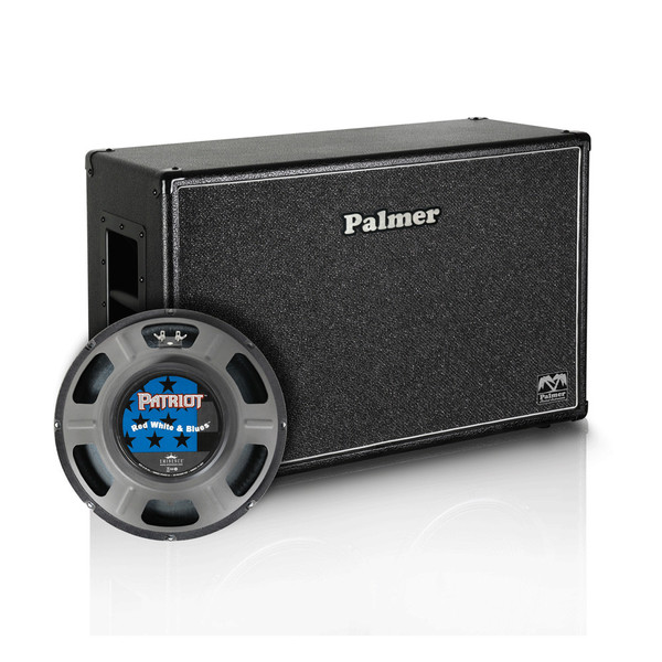 """Palmer 2x12"""" Eminence Red, White and Blues Speaker Cabinet, Open Back"""