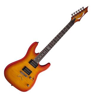 Dean Custom 350 Electric Guitar, Trans Amberburst