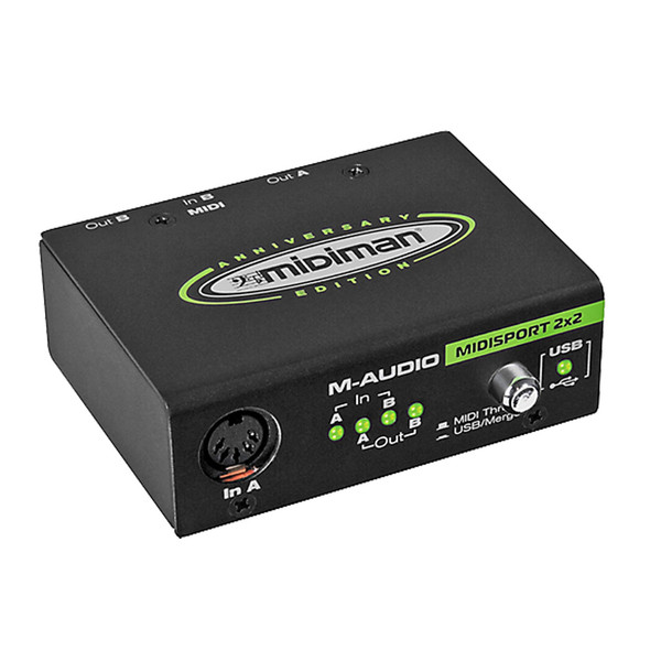 M-Audio Midisport 2x2 MIDI Interface, Anniversary Edition