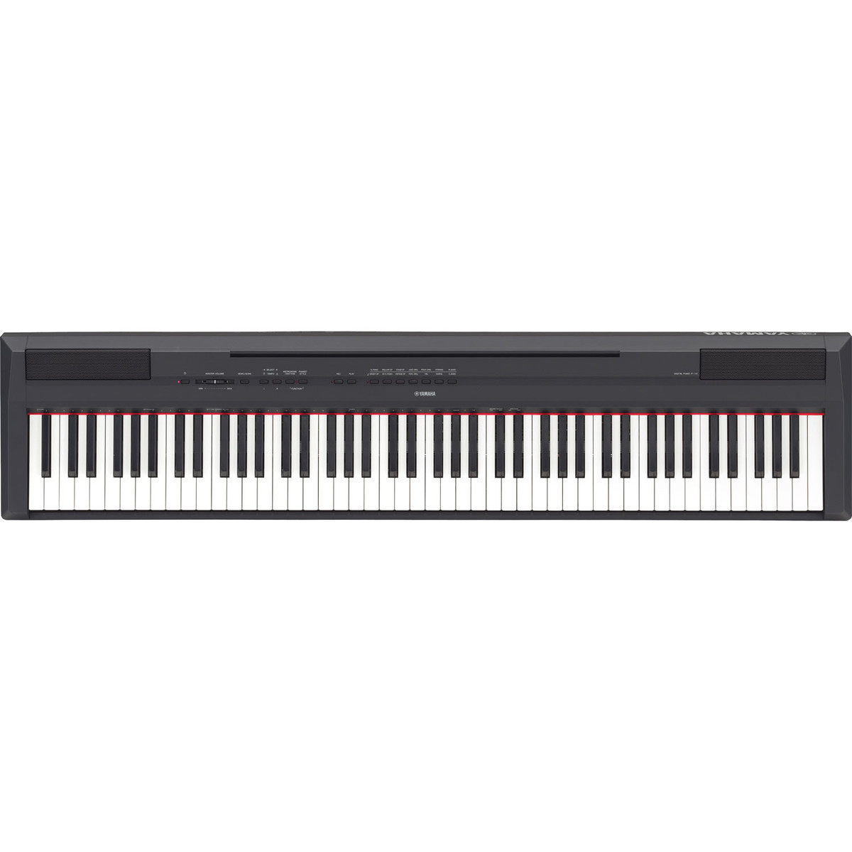 yamaha p115 digital piano black nearly new at gear4music. Black Bedroom Furniture Sets. Home Design Ideas