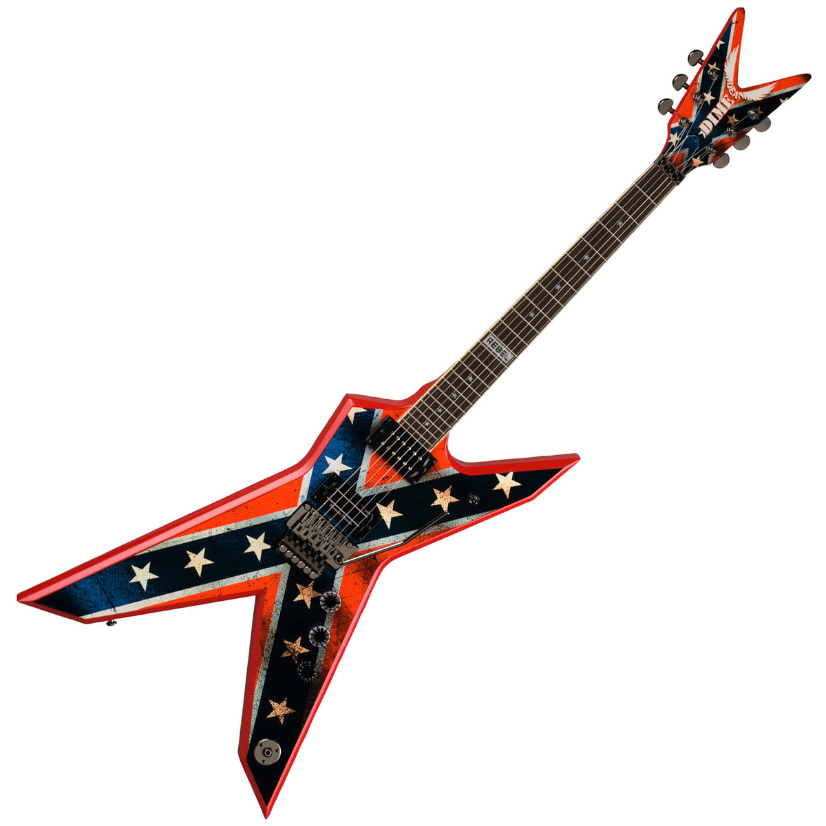 dean dimebag dixie rebel electric guitar flag graphic at