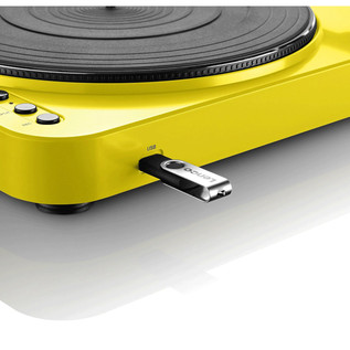 Lenco L-85 Turntable with USB Direct Recording (Yellow)