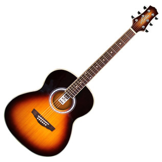 Ashton OM24 Acoustic Guitar, Tobacco Sunburst