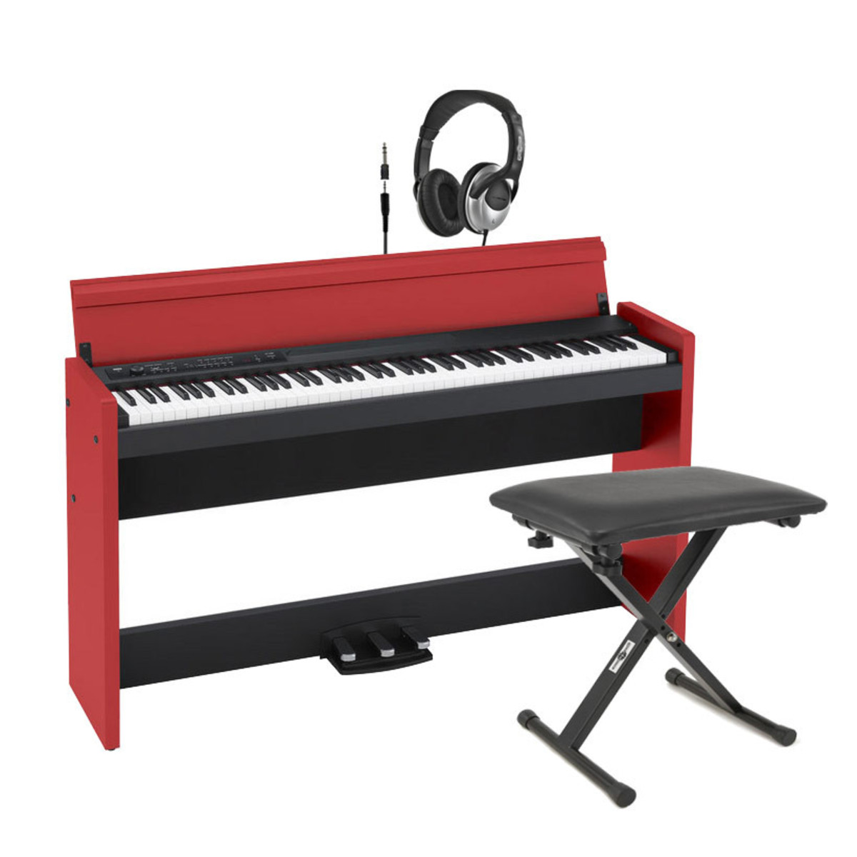 disc korg lp 380 digital piano black and red free stool at gear4music. Black Bedroom Furniture Sets. Home Design Ideas