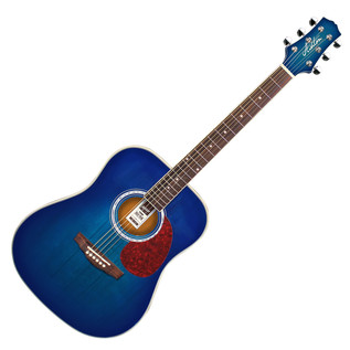 Ashton D24 Dreadnought Acoustic Guitar, Transparent Blue Burst