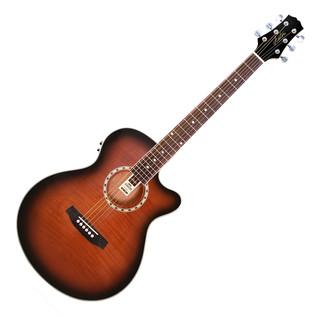 Ashton SL29CEQ Electro Acoustic Guitar, Tobacco Sunburst